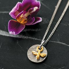 Petite Golden Bee Necklace