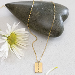 """""""Loved"""" Tag Chain Necklace"""