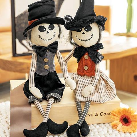 Skeleton Scarecrow Duo