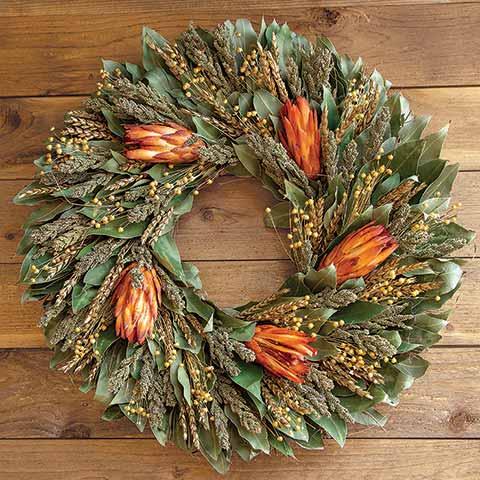 Protea Sunset Wreath