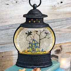 Haunted Lantern Snow Globe