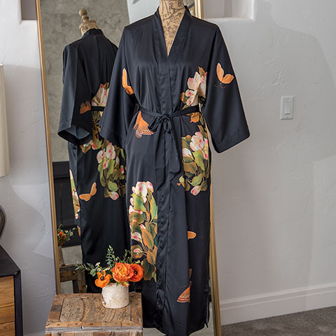 Black Lotus Kimono