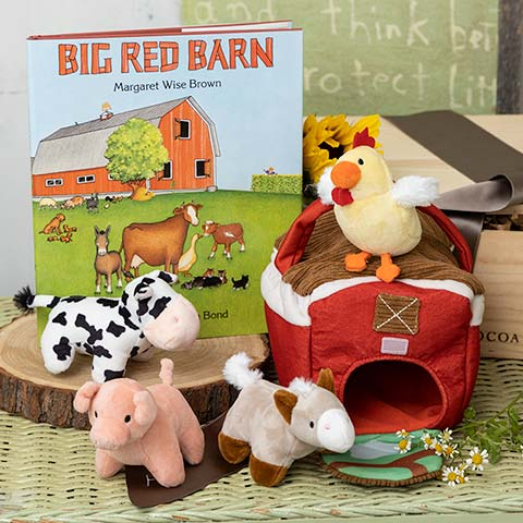 """""""Big Red Barn"""" Book & Toys"""
