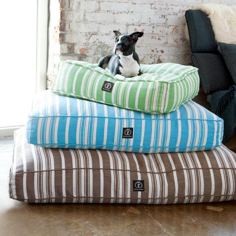 Striped Hemp Dog Beds