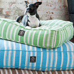 Striped Hemp Dog Beds