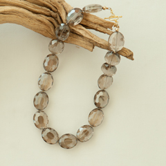 Smoky Vintage Bead Statement Necklace
