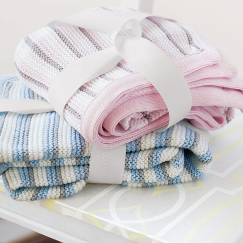 Piccolo Striped Blankets