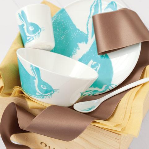Bunny Bleu Dish Set