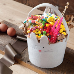 Bunny Felt Basket