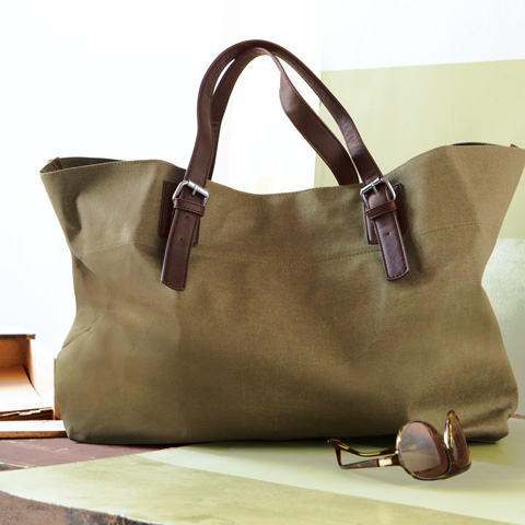 Wellington Waxed Canvas Tote All Gifts Olive Amp Cocoa