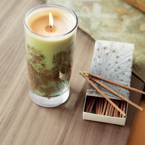 Peacock Baroque Candle & Matches