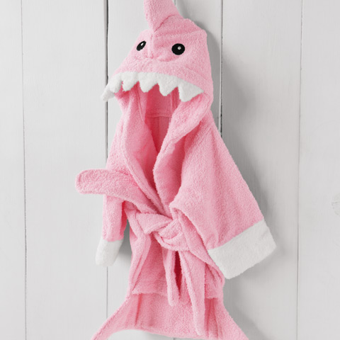 Sharky Girl Pink Robe