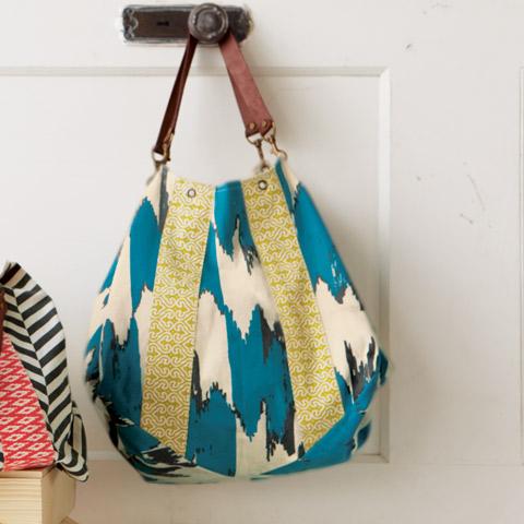 Boho Chic Hobo Bag, Turquoise