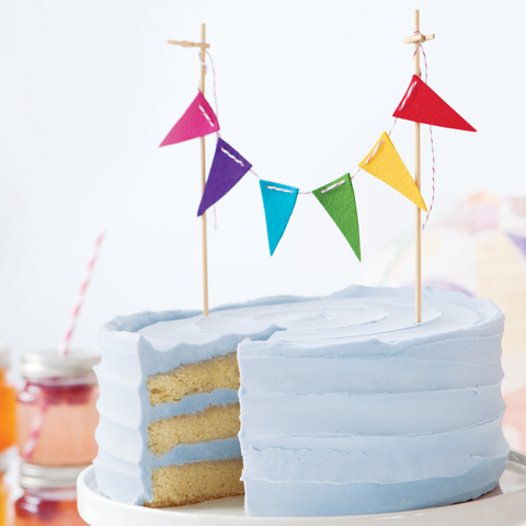 Fete Bunting Cake Topper, set of 3
