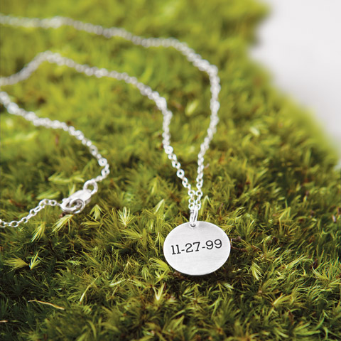 Sentiment Date Necklace