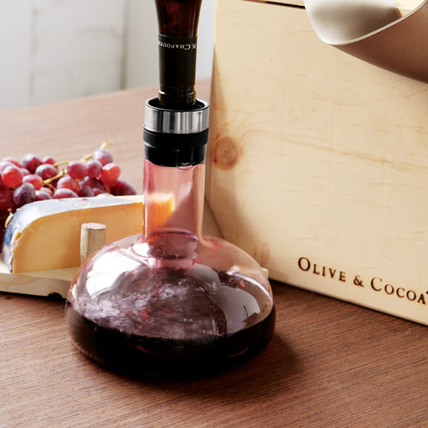 Wine aerator decanter all gifts olive cocoa for What is wine decanter
