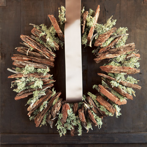 Bark Amp Lichen Moss Wreath All Gifts Olive Amp Cocoa
