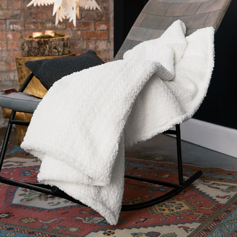 Snowy Luxe Winter Throw