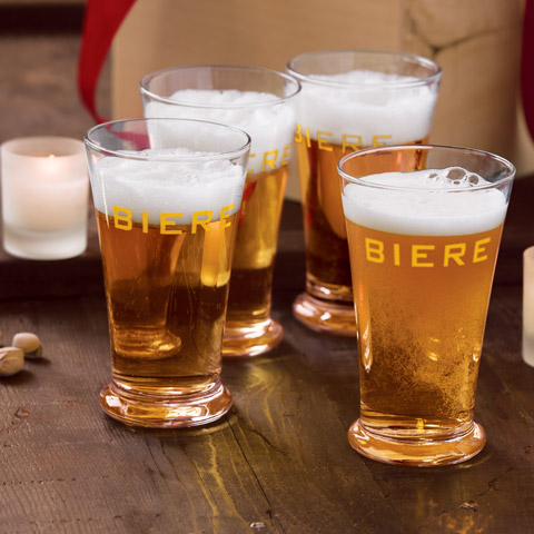 """Biere"" Pint Beer Glasses"
