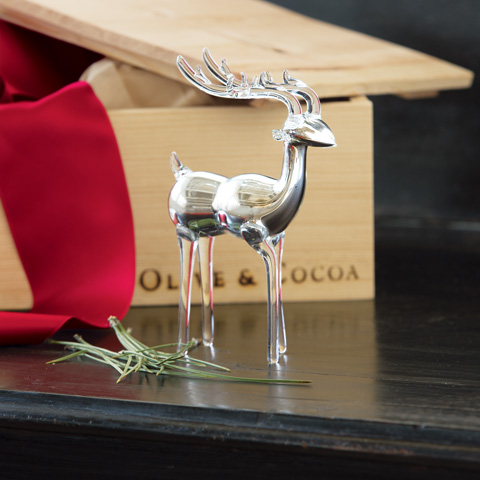Luxe Glass Reindeer