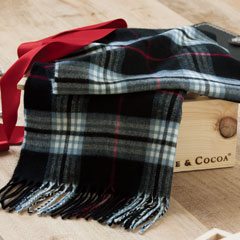 Hampton Plaid Cashmere Scarf
