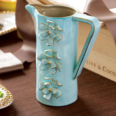 Aquamarine Flower Pitcher