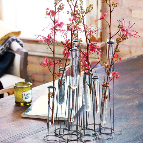 Iron Test Tube Vase All Gifts Olive Cocoa