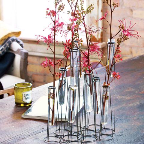 Iron test tube vase all gifts olive cocoa for Test tube vase
