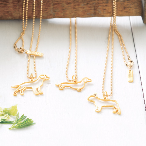 Gold Dog Necklace All Gifts Olive Cocoa