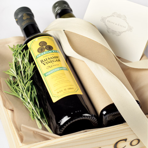 Olive Oil and Balsamic Vinegar Crate