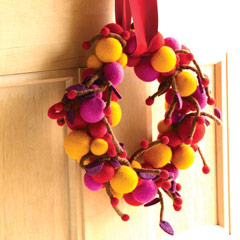 Felted Winterberry Wreath
