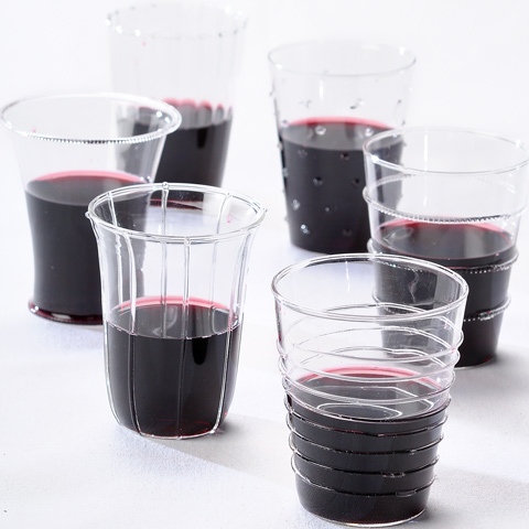 Dainty Red Wine Glasses
