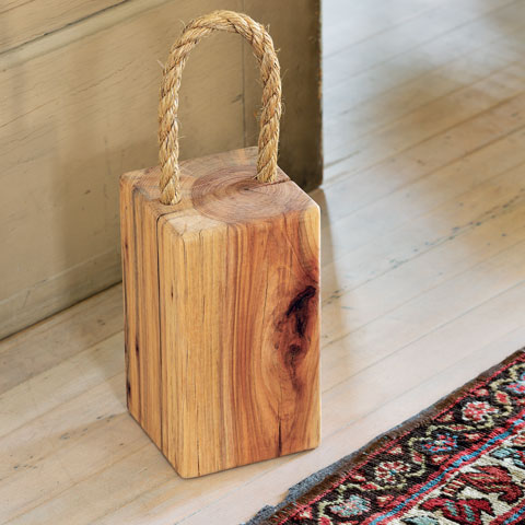 Recycled Wood Doorstop All Gifts Olive Amp Cocoa