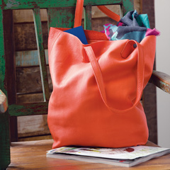 Persimmon Leather Bag