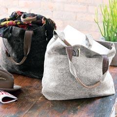 Charcoal & Ash Linen Bags