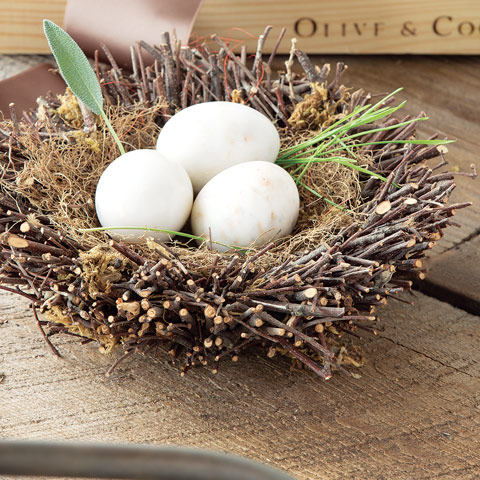 Nest With Marble Eggs