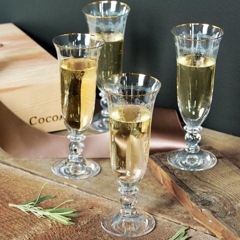 Saint Jacques Champagne Flutes