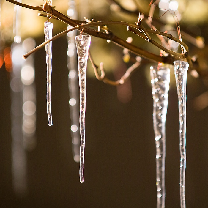 - Twenty Nordic Icicle Ornaments, All Gifts: Olive & Cocoa