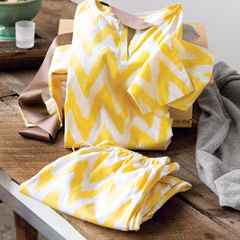 Ikat Marigold Pajamas