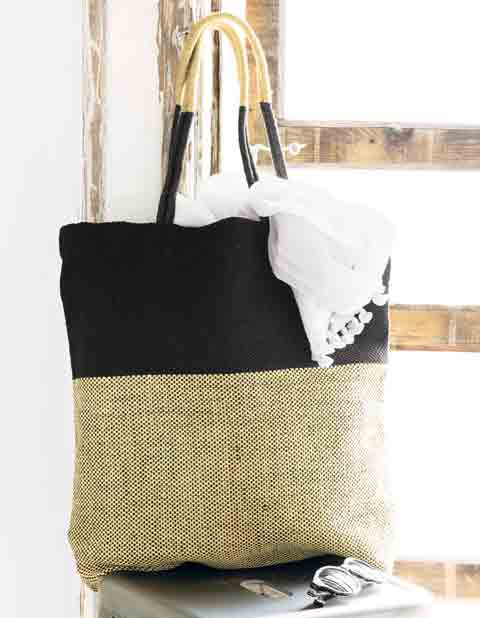French Burlap  Tote