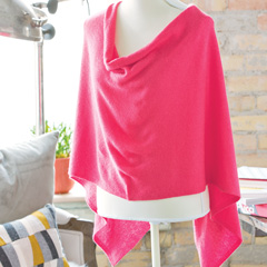 Cashmere Poncho - Petal Pink Cashmere Poncho