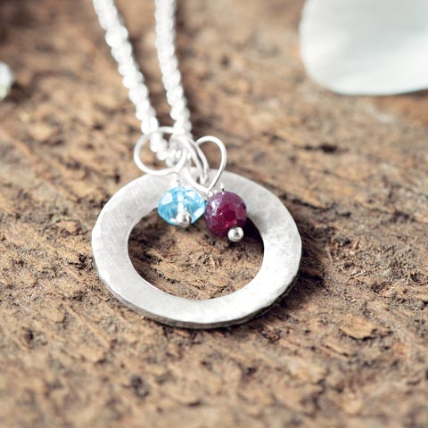 Motherhood birthstone necklace all gifts olive cocoa motherhood birthstone necklace mozeypictures Gallery