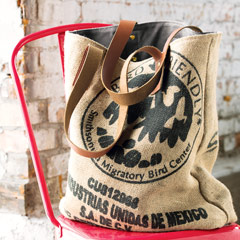 Authentic Burlap & Canvas Bag