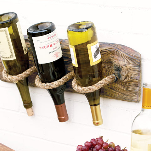 recycled wood wine rack