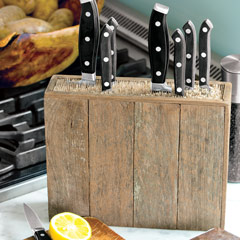 Recycled Wood Knife Block