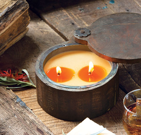 Sage & Pomegranate Wood Candle