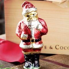 Gilded Foil Santa Figurine