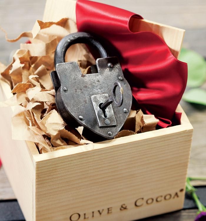 parisian love lock key all gifts olive cocoa