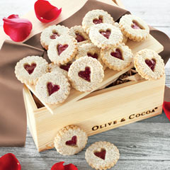 Heart Windowpane Cookies