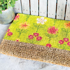 Dahlia Bloom Door Mat